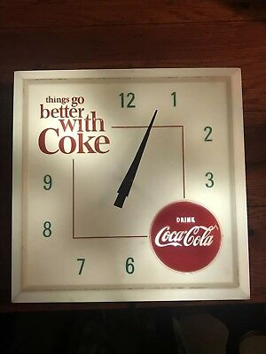 Vintage 1960's Coca Cola Hanover Electric Light-Up Clock