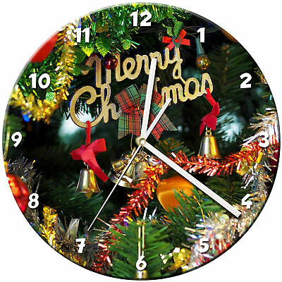 Christmas Xmas Glass Wall Clock Learn Gift Bedroom Gaming Kids - 06
