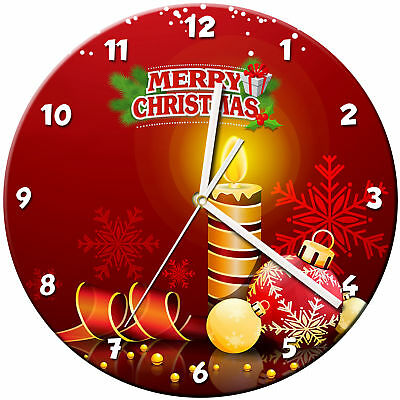 Christmas Xmas Glass Wall Clock Learn Gift Bedroom Gaming Kids - 11