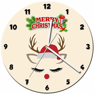 Christmas Xmas Glass Wall Clock Learn Gift Bedroom Gaming Kids - 13