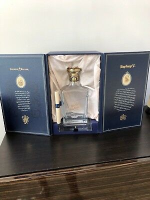 Johnnie Walker Blue Label King George Empty Bottle With Case and Sleeve
