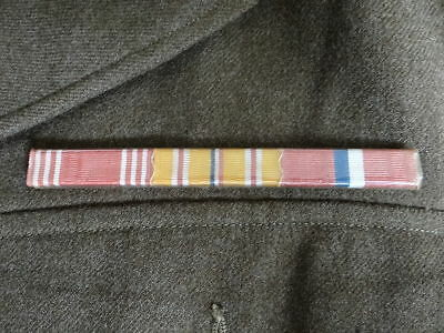 US Army Ribbon Bar, Asiatic Pacific, Philippine, Good Conduct, WWII, WW2