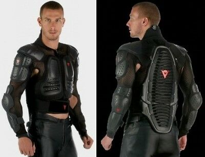 New Dainese Wave Motorcycle Bike Riding Full Body Armor w/ Neck Protector Black