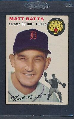 1954 Topps #088 Matt Batts Tigers VG/EX (Marker) *1598