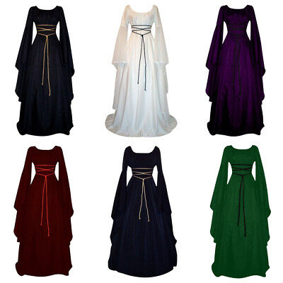 289f290d2426 Women Halloween Long Princess Dress Witch Carnival Cosplay Costume Scary  Dresses