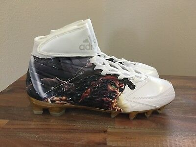 new product 29a4c 3bf02 Adidas Freak X Carbon High Uncaged Football Cleats Pirate AQ7821 Sz 10.5