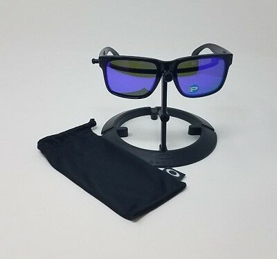 1a597f15db Oakley Holbrook 9102-67 Black Ink Violet Iridium Polarized Sport Sunglasses