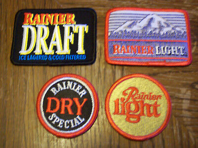 Lot Of 4  Rainier Beer Patches
