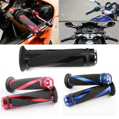 "Motorcycle 7/8"" Hand Grips Handle Bar For Suzuki GSXR600 1000 Honda CBR600RR New"