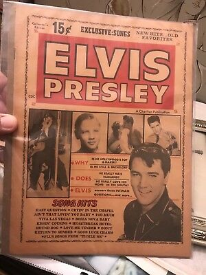 1965 ELVIS PRESLEY CHARLTON Exclusive songs and stars publication from Museum