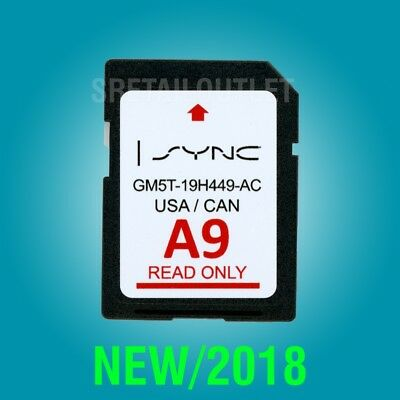 Latest 2019 Map Update FORD A9 Nav Navigation GPS SD Card SYNC 2 A8 2018 US CAN