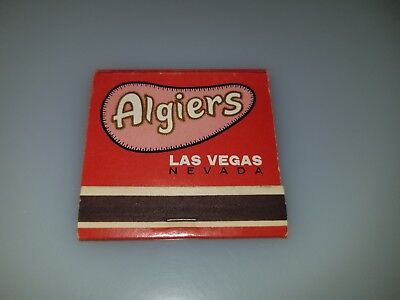 Vintage Matchbook From Las Vegas Nevada  Algiers On The Famous Strip