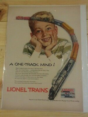 LIONEL TRAINS  AD - FROM SATURDAY EVENING POST 1953 Artist Alex Ross