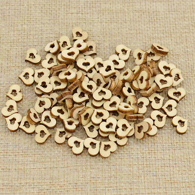 100pcs Hollow Out Small Cute Wooden Love Heart Home Party Decor Wedding Supplies