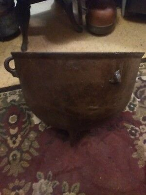 Antique Vintage Cast Iron Wash Pot Cracklin Pot #12 Very Nice Condition Rare!!