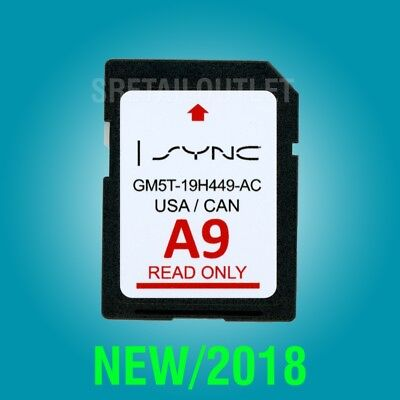 2019 / 2018 A9 MAP UPDATE GPS Navigation SD CARD SYNC FORD, LINCOLN UPDATES A8