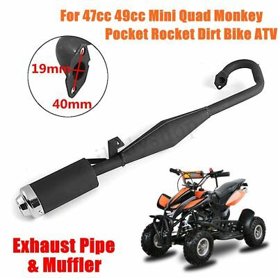 Exhaust Pipe +Muffler For 43cc 47cc 49cc Mini Quad Dirt Pocket Bike Scooter ATV