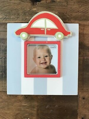 NEW Little Boys Mud Pie Wooden Car Picture Frame