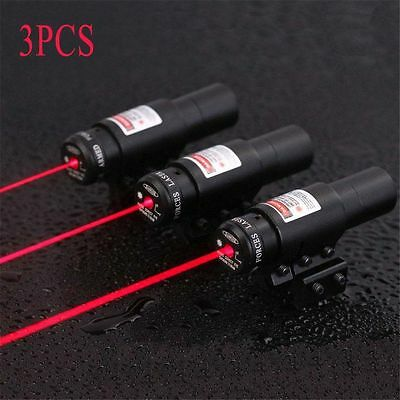 3Pcs Tactical Universal Red Laser Sight w/Cliper Mount for Airsoft Gun Rifle #11
