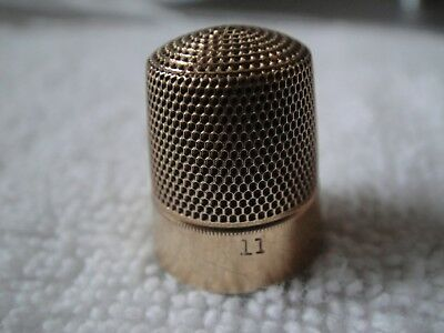 Antique 10K Yellow Gold Simons Brothers & Co. Thimble Size 11