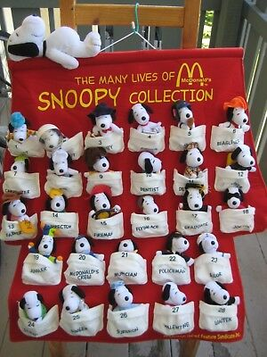 McDonald's Many Lives of Snoopy Complete 28 Dolls Set Japan 2001 New