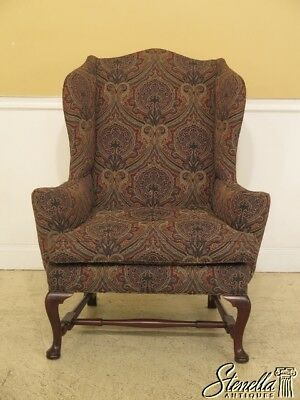 45629EC: KITTINGER CW-44 Colonial Williamsburg Mahogany Wing Chair