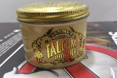 Vintage Village Celebrated Talcum Powder 1/2 full Tin