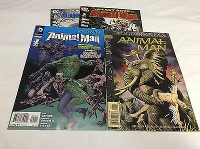 ANIMAL MAN NEW 52 Annual #1 (DC/LEMEIRE/Last DAY/0715173)COMIC BOOK SET LOT OF 4