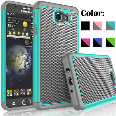 For Samsung Galaxy Halo Case Shockproof Hybrid Rubber Cover+Tempered Glass Film