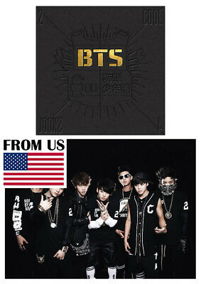 BTS [2 Cool 4 Skool] BANGTAN BOYS Single Album CD+Booklet+Extra 4Photo Cards Set
