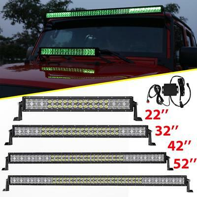 """5D CREE RGB 22""""/32""""/42""""/50""""/52inch 4"""" 18W LED Work Light Bar Offroad Driving SUV"""
