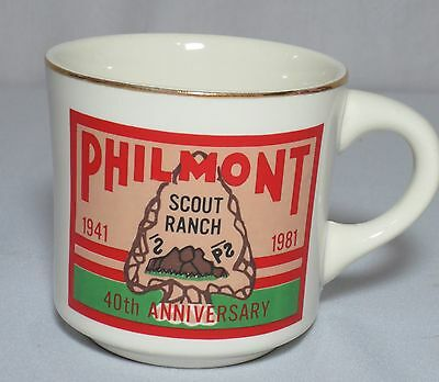 Boy Scout BSA Mug Cup Philmont Scout Ranch 40th Anniversary 1981 Rare