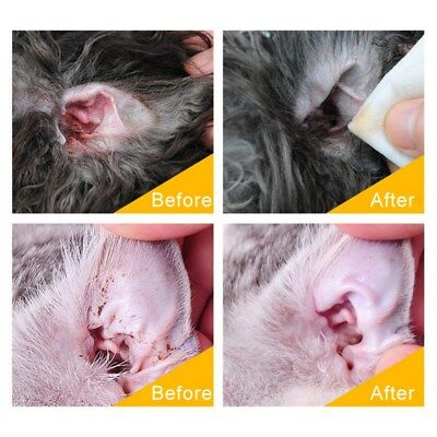 Pet Dogs Cats Ear Cleaner Effective Keep Ear Health Against Infection 60 ml