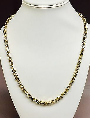 754ea2bf93017 14KT SOLID GOLD Handmade NUGGET Mens Link Chain/Necklace 21