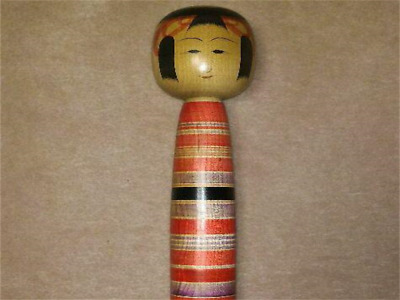 Kokeshi Japanese traditional craft cute rare popular vintage slim border F / S!