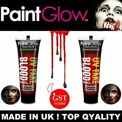 UV Glow Fake Blood Gel Paint Glow Liquid Wounds Scars Zombie Halloween Vampire