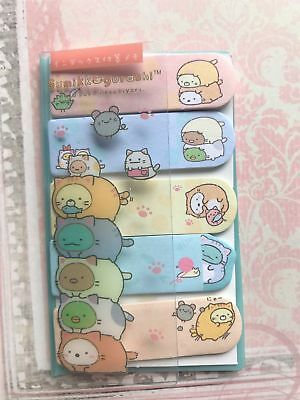 SANX SUMIKKO GURASHI sticky flag kawaii japanese stationery memo paper pad cat