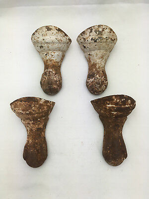 Lot of 4 Decorative Cast Iron Ball & Claw ESSEX Bathtub Feet REPURPOSE