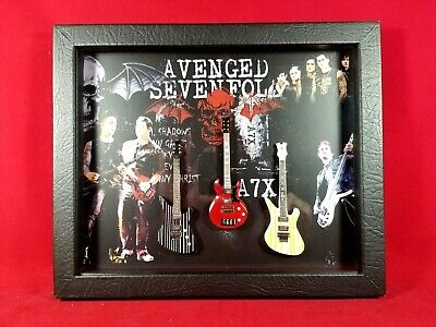 Avenged Sevenfold Miniature Guitars Tribute in Shadow Box MD2