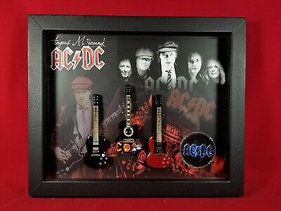 AC/DC Miniature Guitars Tribute in Shadow Box MD2