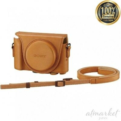 SONY digital camera case jacket case light brown LCJ-HWA TIC genuine from JAPAN