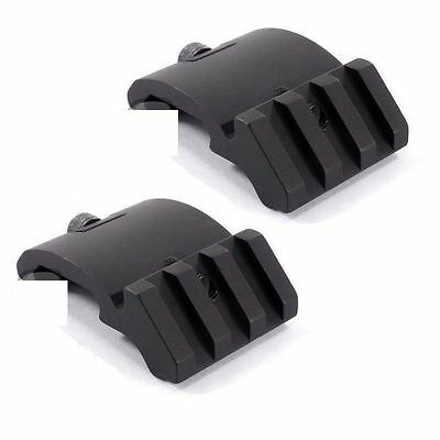 2PCS Tactical Ultra Low Profile 45 degree Offset Picatinny Rail Accessory Mount&