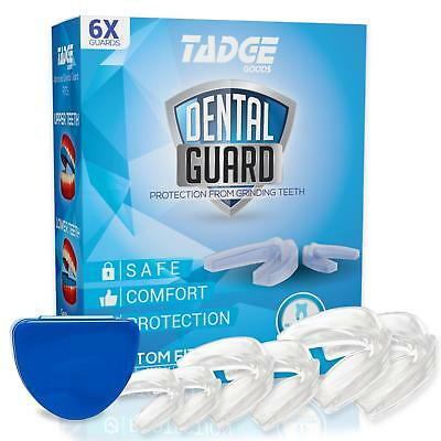 Tadge Goods Night Mouth Guard for Grinding Teeth – Pack of 6 – Bite Guard
