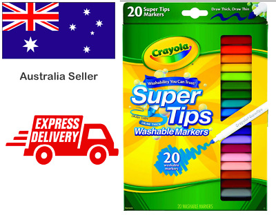 Crayola 20 Pack Colours Free Markers Set, Washable, Pens, Shipping, Gifts, Fun