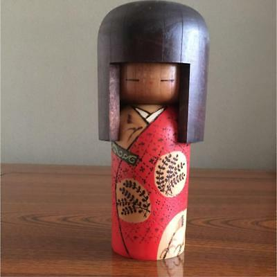 Kokeshi Japanese traditional craft cute red kimono vintage retro beauty F / S!