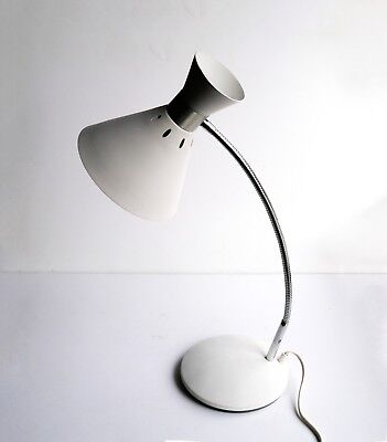 Vintage French Desk Lamp by Aluminor Space Age Mid Century Modern