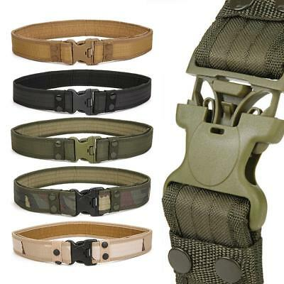 Outdoor Duty Army Belt Camouflage Tactical Quick-Release Utility Waistband