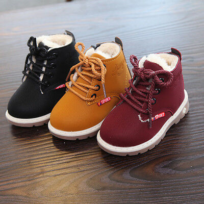 Unisex Children Spring Winter Martin Boots Shoes Casual Warm Boys Girls Sneakers