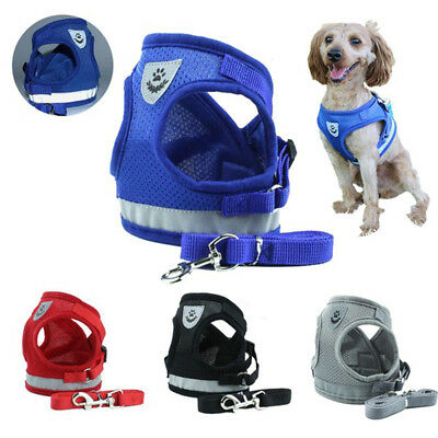 Mesh Breathable Puppy Vest Pet Traction Rope Chest Strap Collar Dog Harness