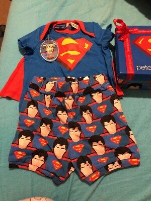 Peter Alexander Superman Baby Set 00 3-6 Months BNWT